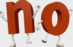 Declaración del no